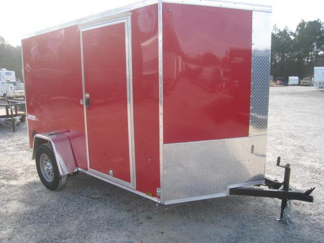 2018 Pace American Journey 6x10 Vnose Enclosed Cargo Trailer with Extras