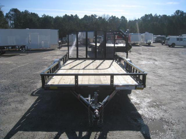 """2018 PJ Trailers U8 12'X83"""" Utility Trailer with Rear Gate and ATV Ramps"""