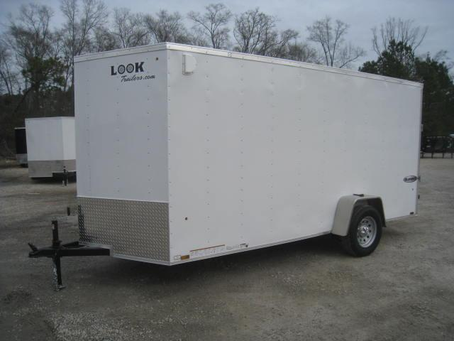 """2018 Look Trailers Element 6x14 Vnose Enclosed Cargo Trailer with 6'6"""" Inside"""