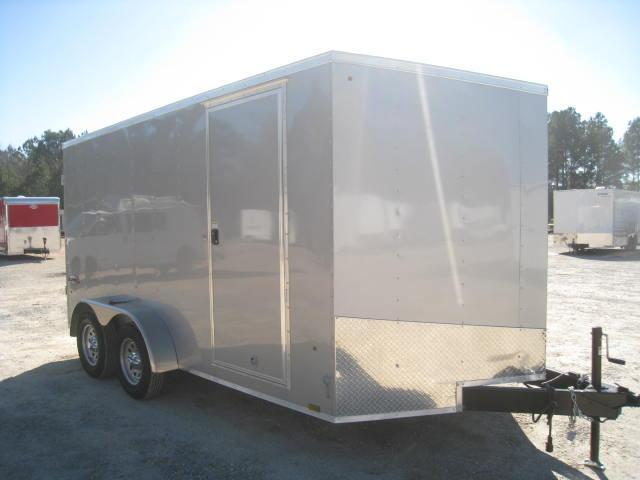 2018 Look Trailers Element 7x14 Vnose Enclosed Cargo Trailer with Double Rear Doors and Torsion Axles