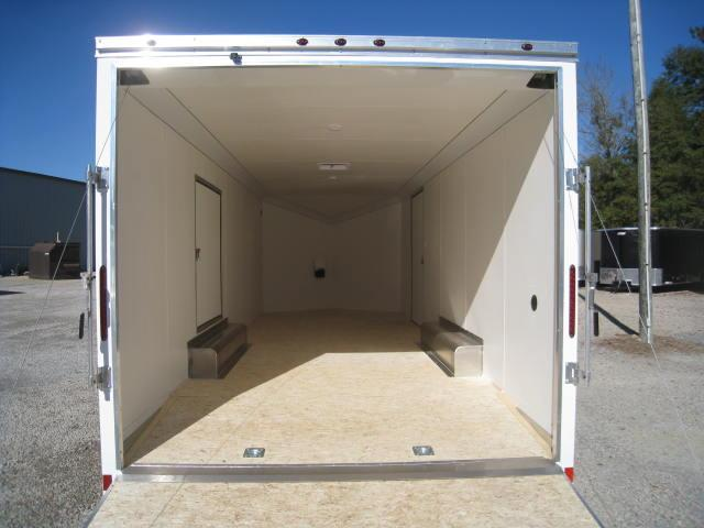 2017 Haulmark ALX 8.5 X 24 Vnose Car Trailer w/ Driver Escape Door