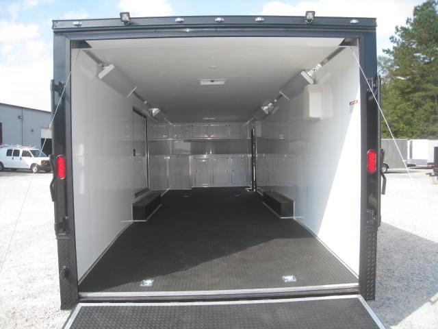 2018 Continental Cargo Sunshine 8.5 X 28 Vnose Car Trailer - Driver Escape Door