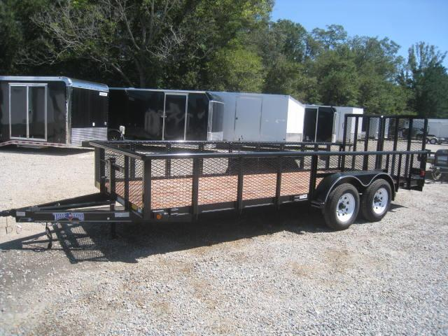 "2017 Texas Bragg Trailers 82 X 18 TA w/ 24"" Expanded Metal Sides"