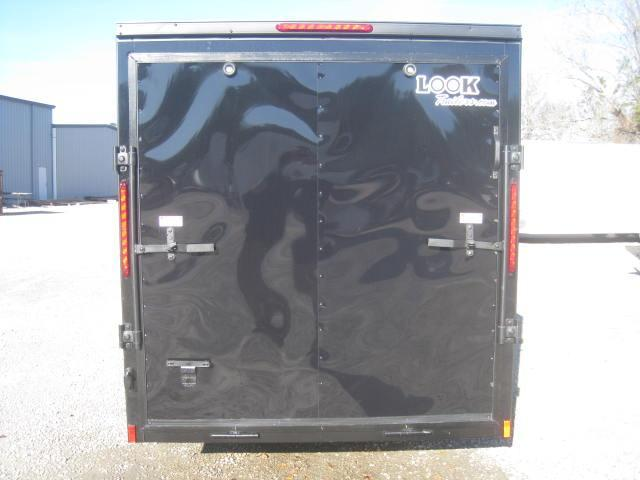 2018 Look Trailers Element 6x12 Vnose Enclosed Cargo Trailer with Blackout Package