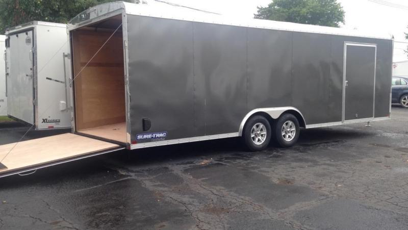 2017 Sure-Trac  24' Auto Transport Enclosed Cargo Trailer
