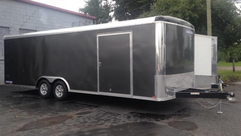 2017 Sure-Trac  24' Auto Transport Enclosed Cargo Trailer