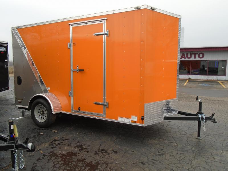 2017 Continental Cargo Enclosed 6 X12 Motorcycle Trailer