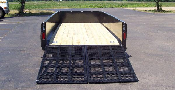 SCISSOR Lift Trailer 6x12 w/split ramp