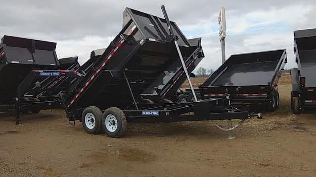 2018 12' Sure-Trac Dump Trailer 12000 GVW Telescopic Lift