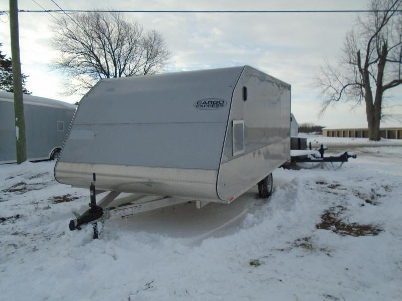 2017 Cargo Express 14'  Aluminum Apex Snowmobile Trailer
