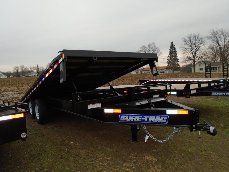 Sure-Trac 22' Deck Over Power Tilt Equipment Trailer