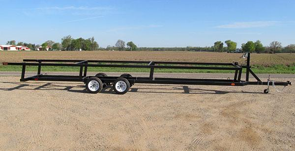 24' Tandem crank up Pontoon Trailer