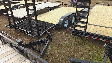 2018 18' Low Pro Machinery/Bobcat GE Equipment Trailer