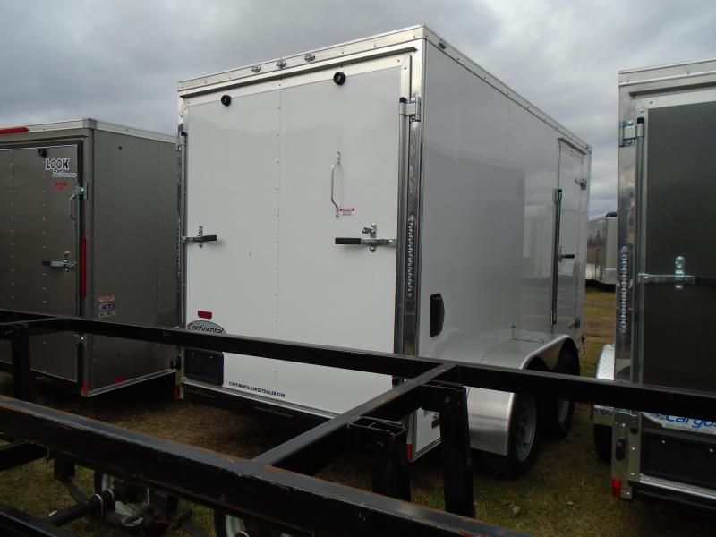 2018 Continental Cargo V Series 6x12 Enclosed Cargo Trailer
