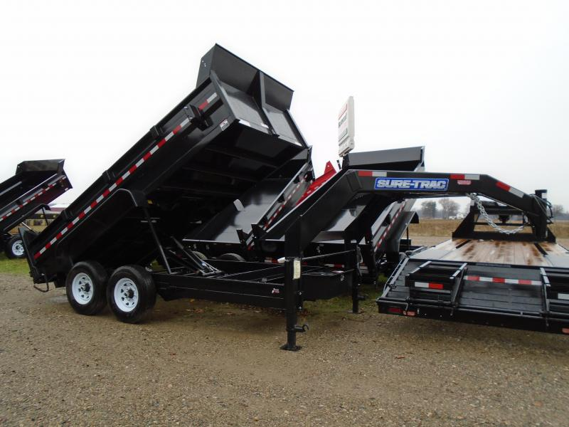 2017 Sure-Trac 14' Goose Neck Dump Trailer