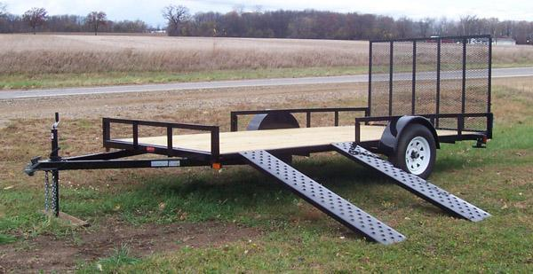 7' X 14' - 3 place atv\utility trailer
