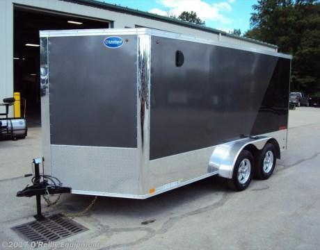 2017 United Trailers XLMTV 7x14 Motorcycle Trailer