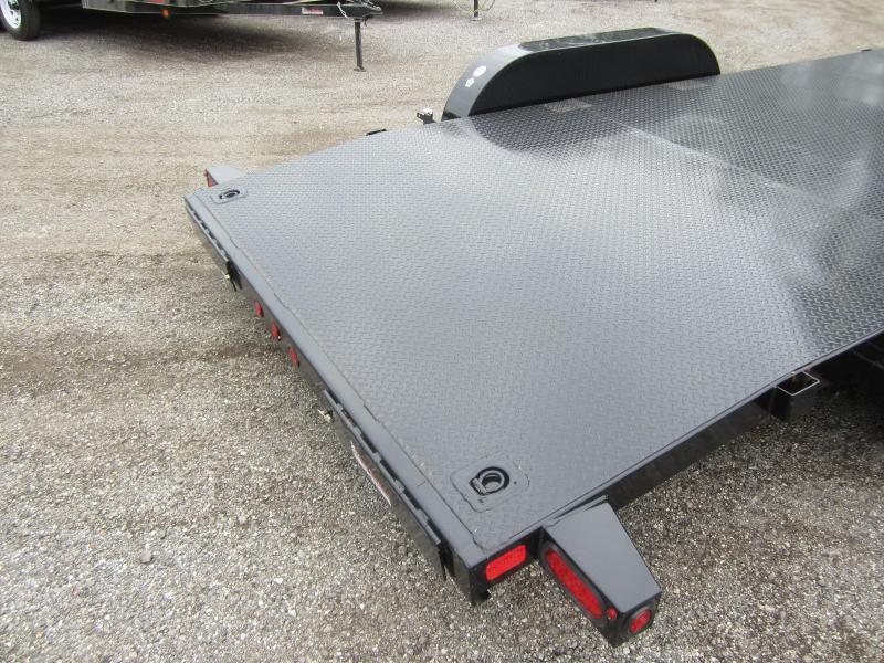 70DM-18BK BIG TEX 18' STEEL DECK CAR HAULER W/ BRAKES ON BOTH AXLES