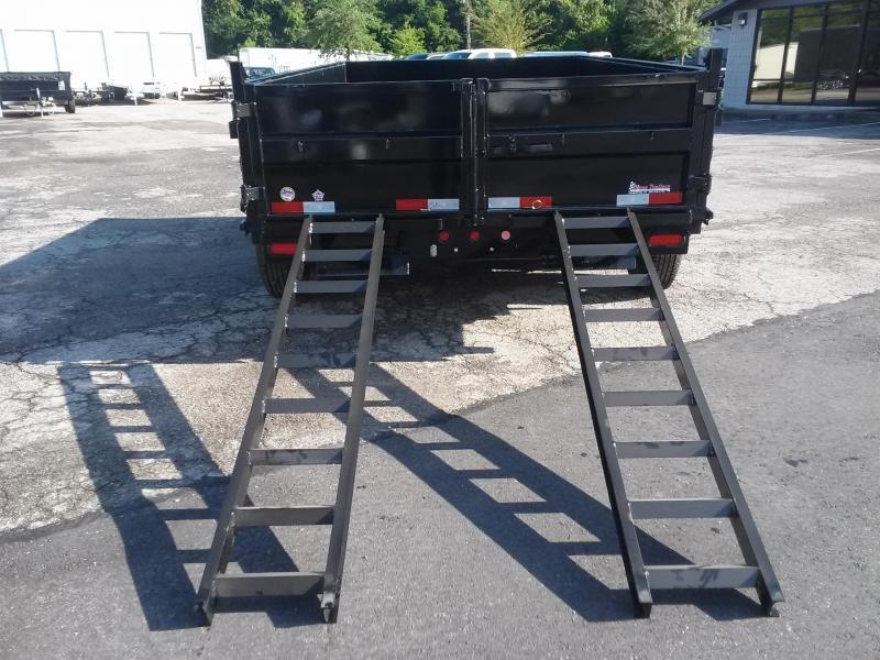10SR-12XLBK7SIR BIG TEX 12' DUMP TRAILER W/ 7' SLIDE IN RAMPS & COMBO REAR GATE