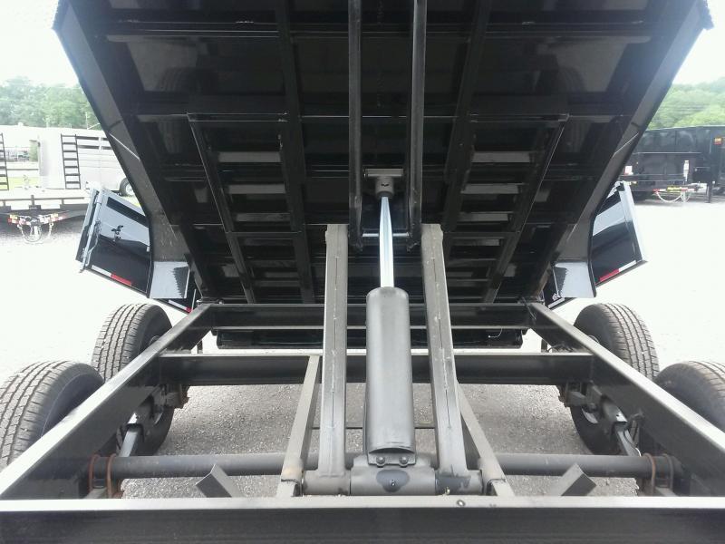 14LX-14 BIG TEX 7' X 14' DUMP TRAILER W/ HYDRAULIC JACK