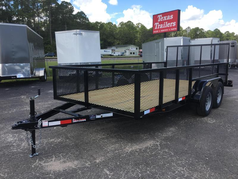 Lm61470 texas trailers 6 39 10 x14 39 lawn maintenance trailer for Garden maintenance trailer