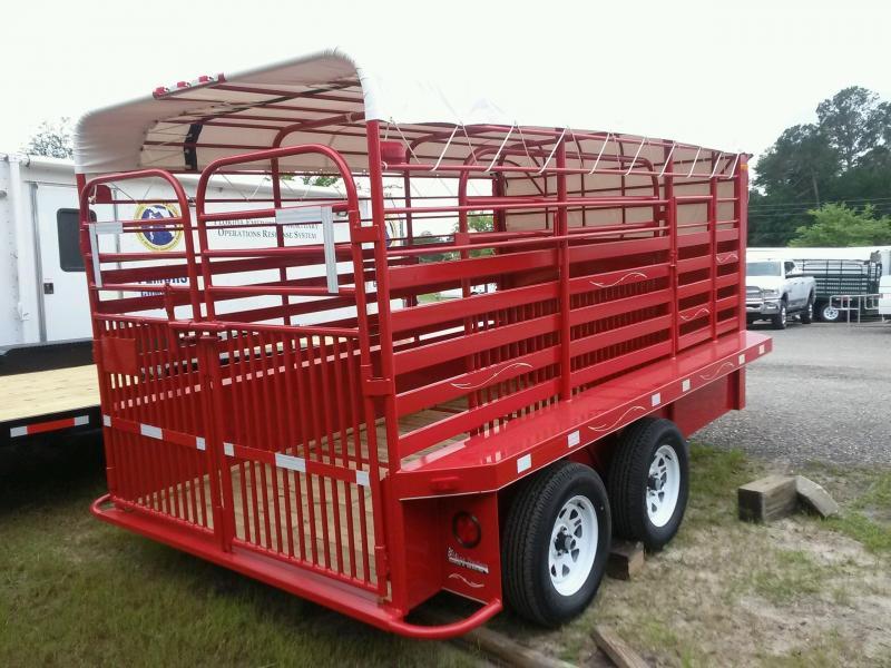 St1270g Texas Trailers 12 Gooseneck Stock Trailer W