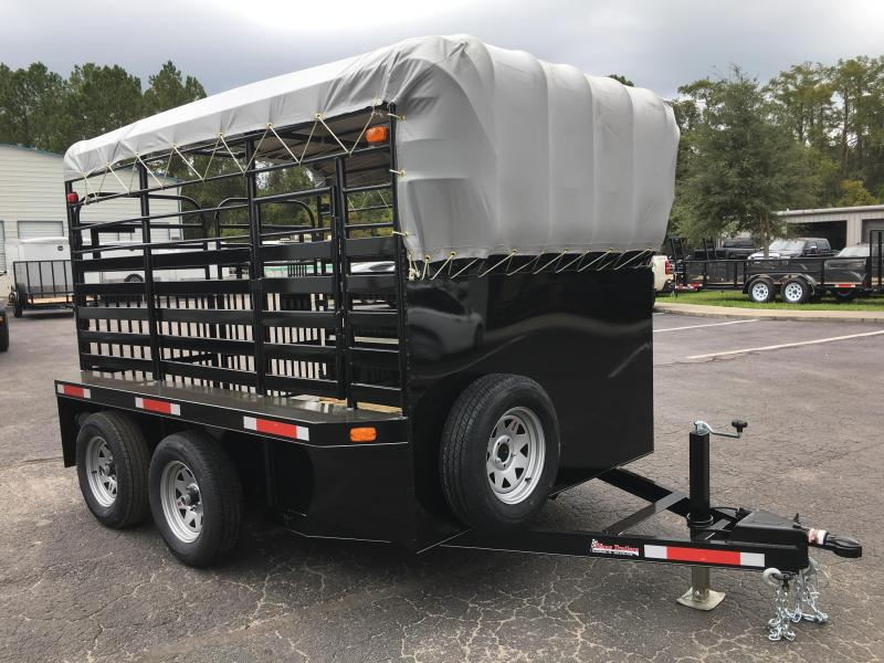 ST1070B TEXAS TRAILERS 10' BUMPER PULL STOCK TRAILER