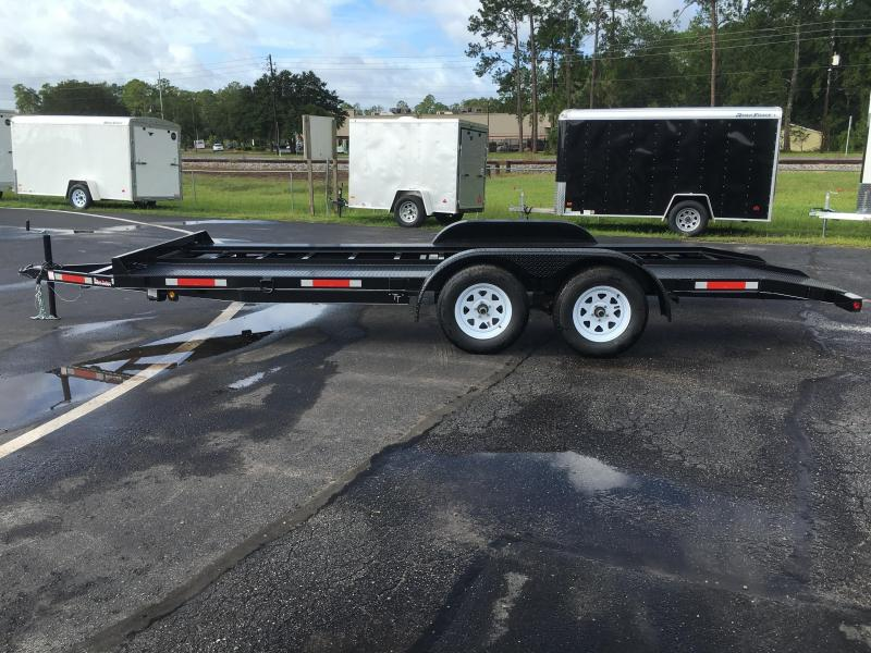 Ch1870 Texas Trailers 18 Car Hauler W Slide Out Ramps Open