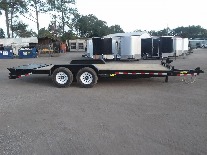 14ET-20BK-MR BIG TEX 20' TANDEM AXLE EQUIPMENT TRAILER W/ MEGA RAMPS