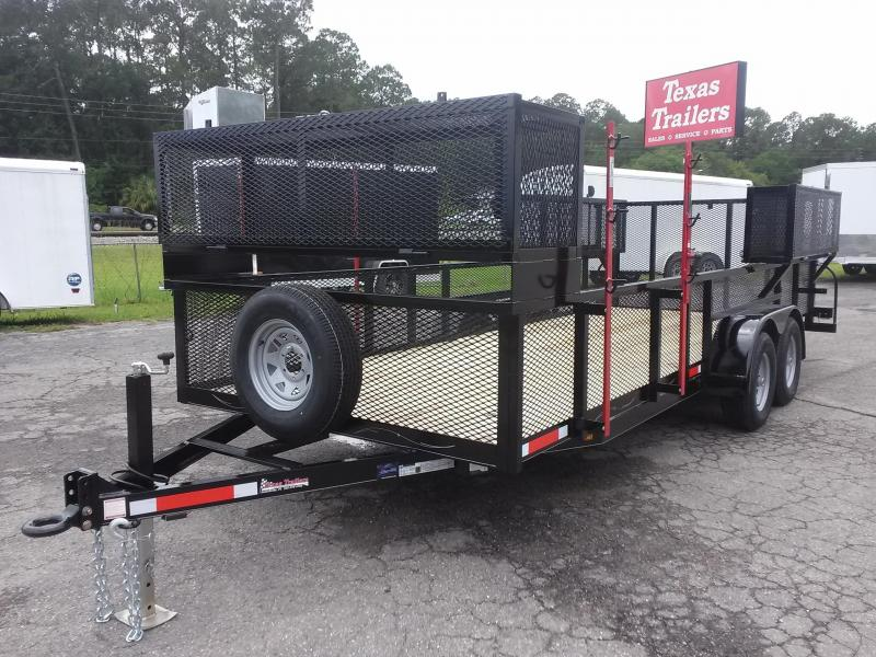 "LM62010 TEXAS TRAILERS 6'10""X20' LAWN MAINTENANCE TRAILER W/ CUSTOM OPTIONS"