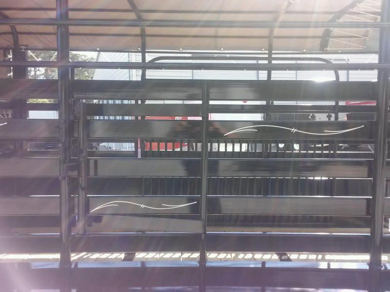 ST1270G TEXAS TRAILERS 12' GOOSENECK STOCK TRAILER W/ OPEN BULKHEAD AND CUSTOM OPTIONS