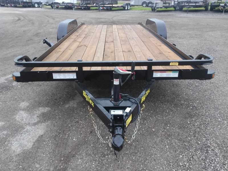 70CH-18BKDT BIG TEX 18' CAR HAULER W/ SLIDE OUT RAMPS & BRAKES ON BOTH AXLES