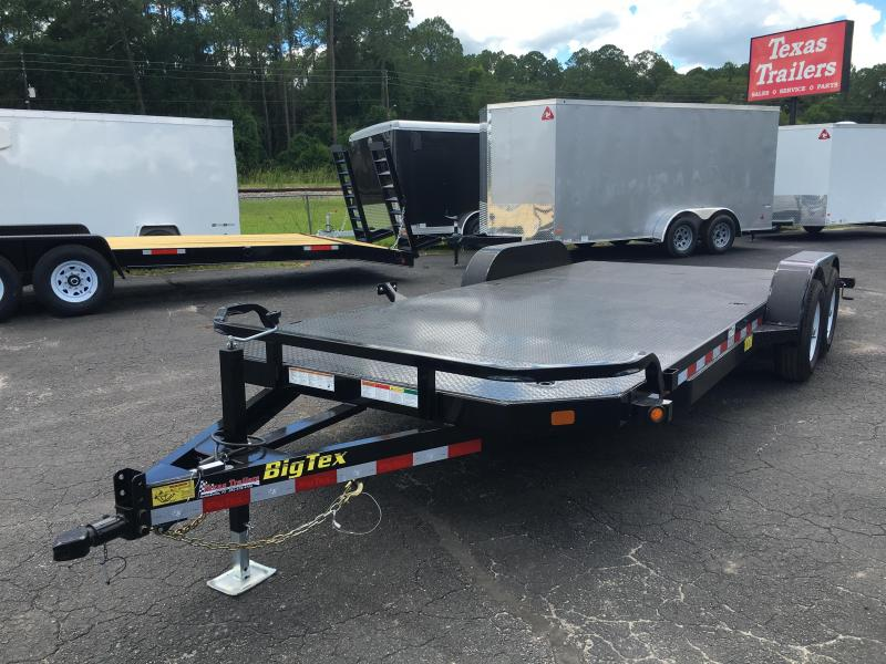 10DM-20 BIG TEX 20' STEEL DECK CAR HAULER W/ STABILIZER JACKS