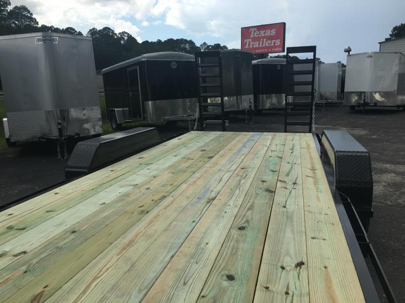 EQ2214B TEXAS TRAILERS 22' 14000# EQUIPMENT TRAILER
