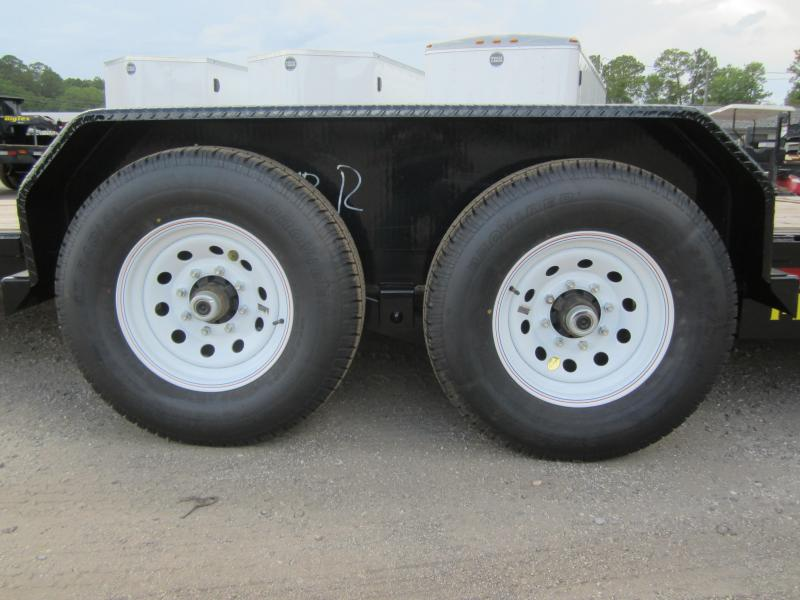 14TL-20BK BIG TEX 20' TANDEM AXLE TILT DECK EQUIPMENT TRAILER