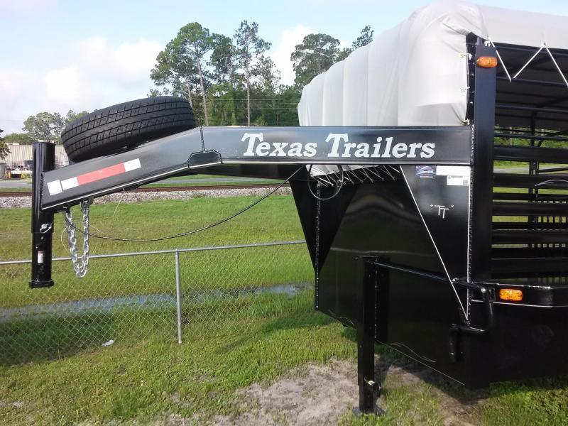 ST1612G TEXAS TRAILERS 16' GOOSENECK STOCK TRAILER