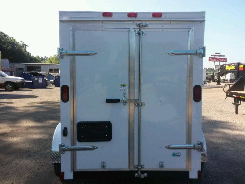 GANS58SA CARGO MATE 5 X 8 ENCLOSED CARGO TRAILER W/ DOUBLE REAR DOORS AND SIDE DOOR & GANS58SA CARGO MATE 5 X 8 ENCLOSED CARGO TRAILER W/ DOUBLE REAR ... pezcame.com