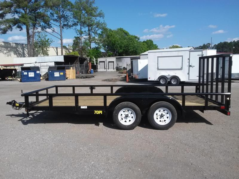 "70PI-16XBK4RG BIG TEX 6'11"" X 16' PIPE UTILITY TRAILER W/ TAILGATE AND BRAKES ON BOTH AXLES"