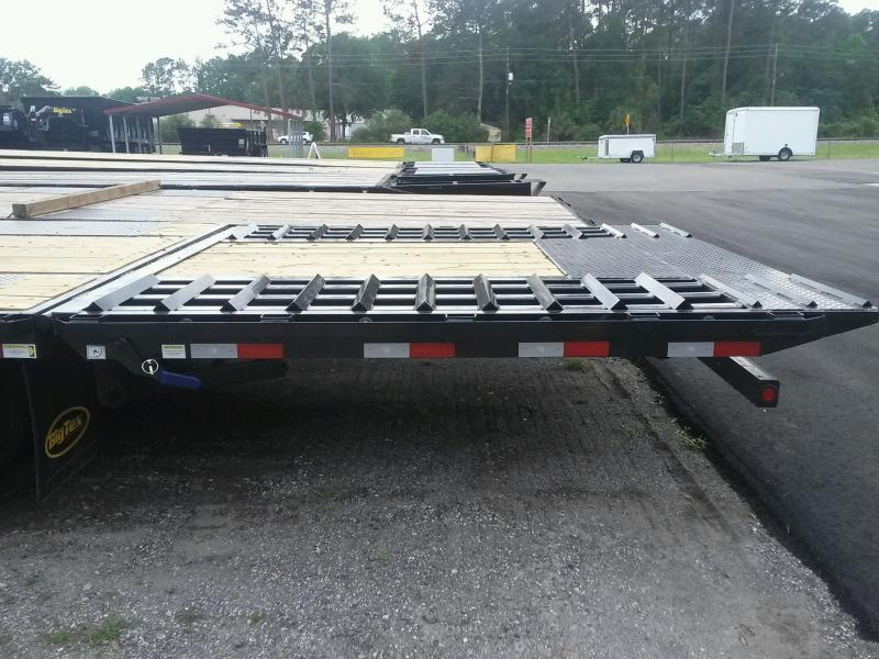 22GN-40-HDTS BIG TEX 40' GOOSENECK DUAL TANDEM FLAT BED W/ 9' HYDRAULIC RAMP & FREE SPARE TIRE