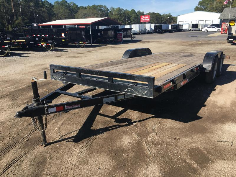 2011 TEXAS TRAILERS 20' CAR HAULER W/ SLIDE OUT RAMPS