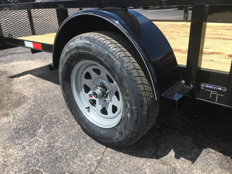 "UT61435 TEXAS TRAILERS 6'10""X14' UTILITY TRAILER W/ SIDE LOAD RAMPS"