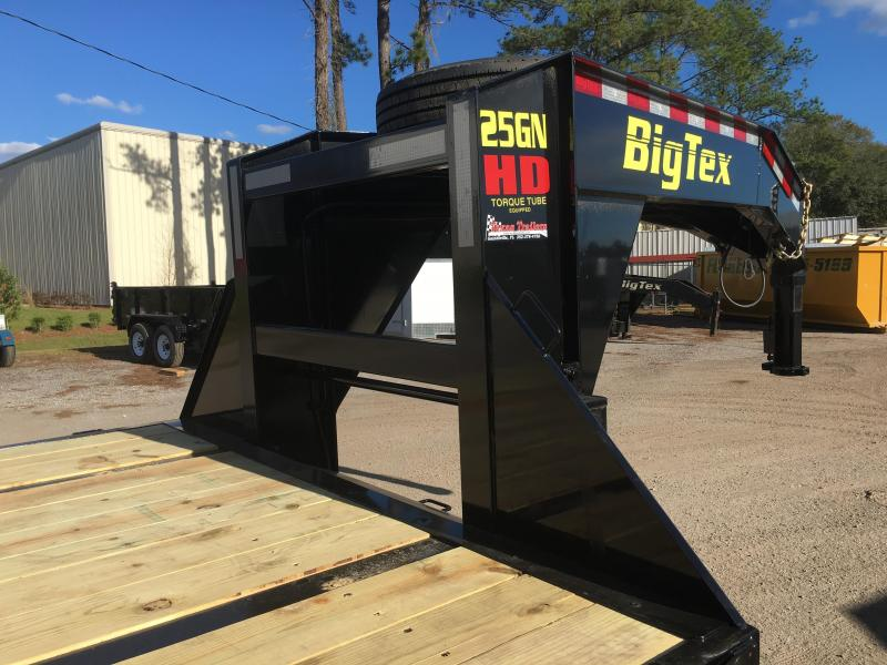 25GN-40-HDTS BIG TEX 40' GOOSENECK DUAL TANDEM W/ 9' HYDRAULIC DOVETAIL & 14-PLY LOAD RANGE G TIRES & FREE SPARE TIRE