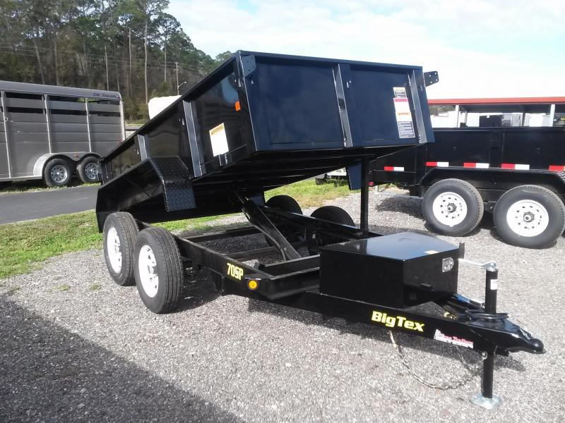 70SR-10-5W BIG TEX 5' X 10' DUMP TRAILER W/ DOUBLE REAR DOORS