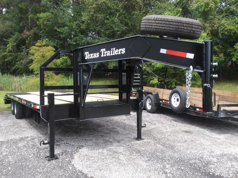 FB2620G TEXAS TRAILERS 26' GOOSENECK DECK OVER FLATBED W/ CUSTOM OPTIONS