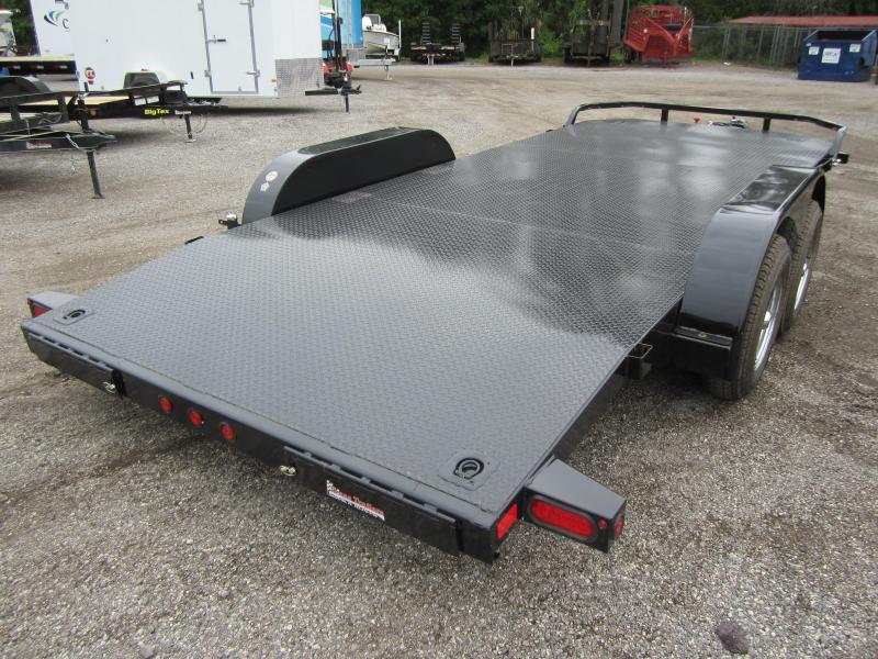 70DM-20BK BIG TEX 20' STEEL DECK CAR HAULER W/ BRAKES ON BOTH AXLES