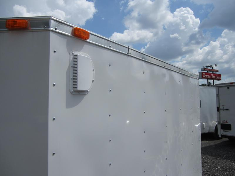 GANS58SA CARGO MATE 5 X 8 ENCLOSED CARGO TRAILER  W/ DOUBLE REAR DOORS