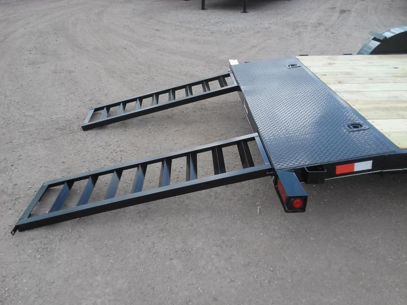 CH1670 TEXAS TRAILERS 16' CAR HAULER W/ SLIDE OUT RAMPS