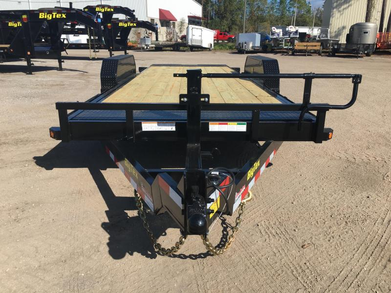 14FT-20BK BIG TEX 20' TANDEM AXLE TILT DECK EQUIPMENT TRAILER
