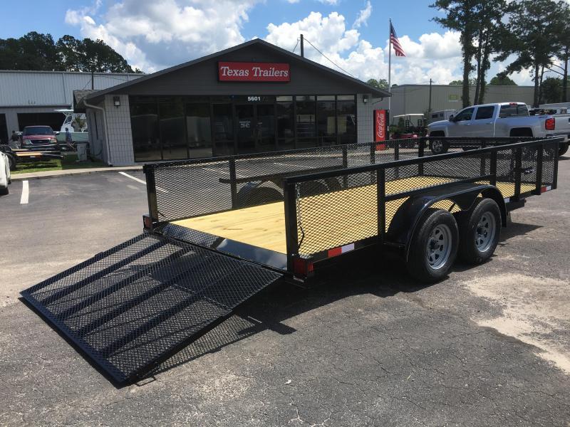Lm61670 texas trailers 6 39 10 x16 39 lawn maintenance trailer for Garden maintenance trailer