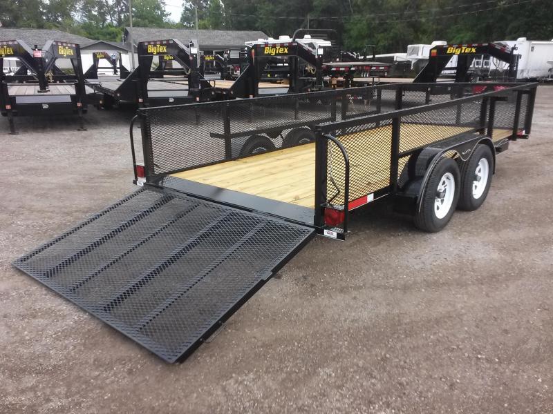 Lm61670 texas trailers 6 39 4 x16 39 lawn maintenance trailer for Garden maintenance trailer